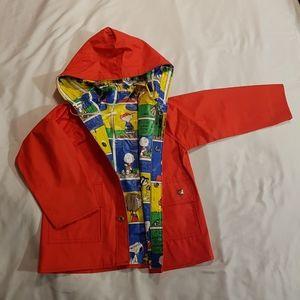 Vintage Peanuts reversible raincoat size 5